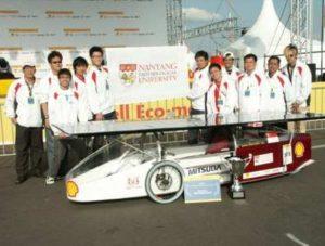 NTU Solar Car winning in Germany