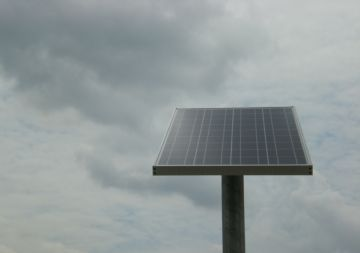 (Indonesia) Stand alone solar fence lighting systems for Batam industrial park
