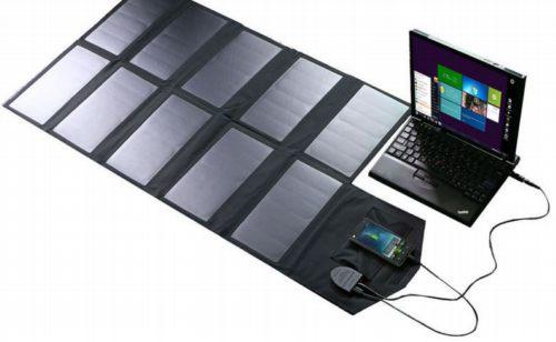 PET laminated foldable solar charger laptop