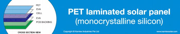PET laminated solarpanel kmx xsection png