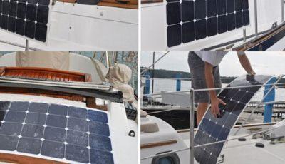 backcontact flexible solarpanel boat