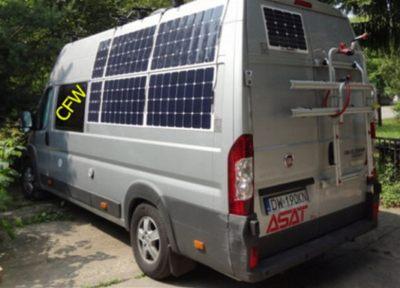 backcontact flexible solarpanel van