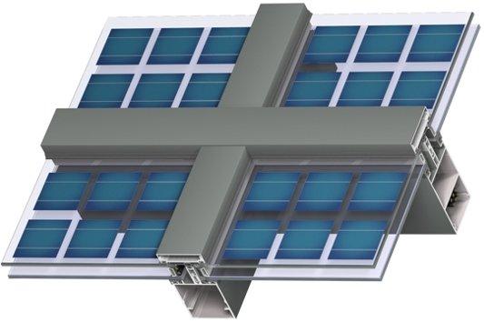 bipv glass facade solar frameless