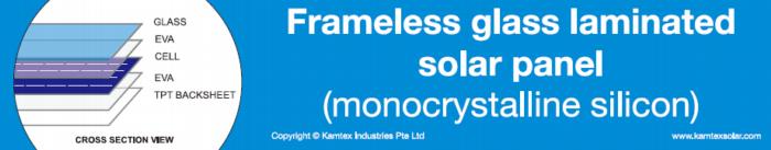 frameless solarpanel kmx xsection png