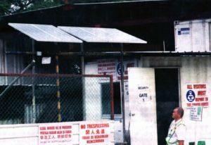 Kamtexsolar solar power system at Gammon Construction site- Kamtexsolar Singapore