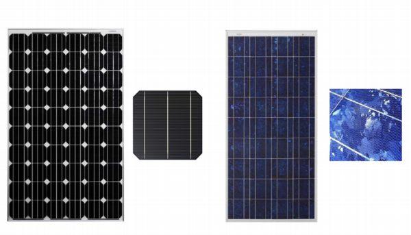 solar mono poly panel compare