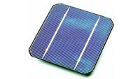 A single solar cell. Solar panels are made of solar cells.-Kamtex Solar